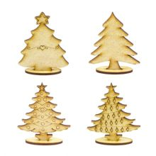 Mini Wooden Christmas Tree with Stand 3mm MDF ready to decorate
